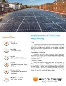 3000 Connecticut Avenue solar installation case study Aurora Energy
