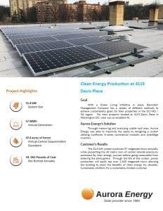 4115 Davis Place BMC properties solar installation case study Aurora Energy