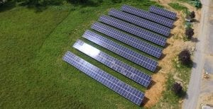 Solar farm agricultural property Maryland installer Aurora Energy Inc.