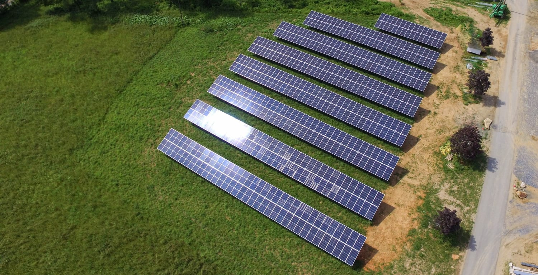 Solar farm agricultural property Maryland installer Aurora Energy Inc.