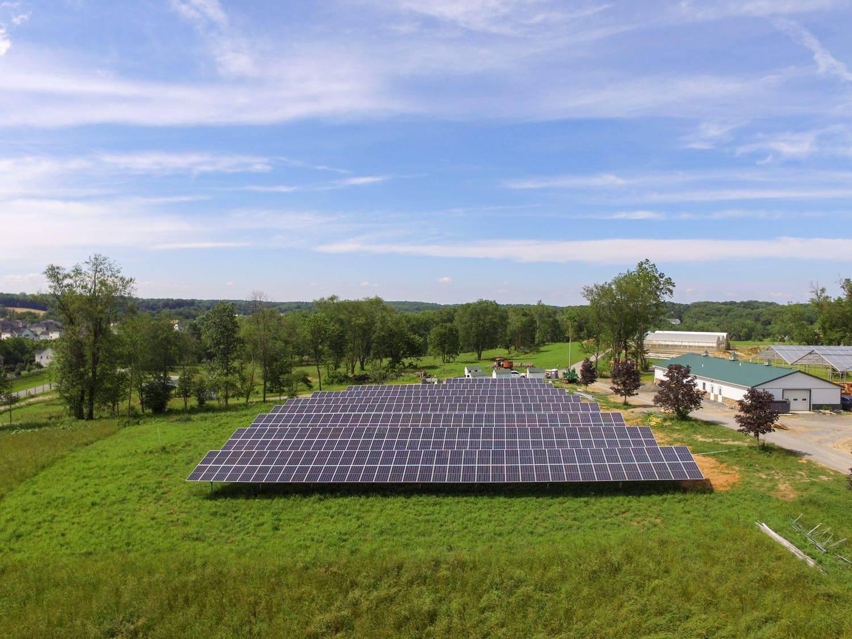 Maryland farm solar array experienced local installer Aurora Energy Inc.