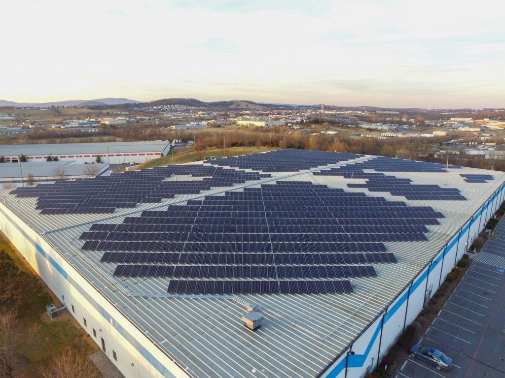 largest rooftop solar Shenandoah Virginia Aurora Energy Inc. installer
