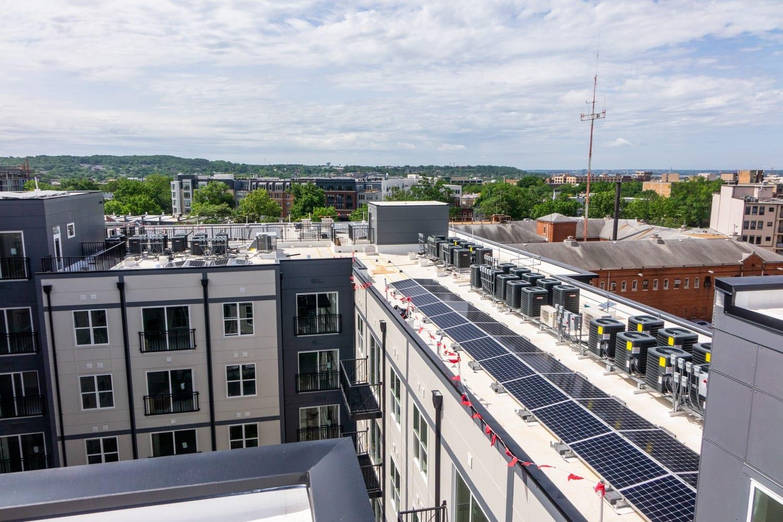 Apartment building Washington DC solar array