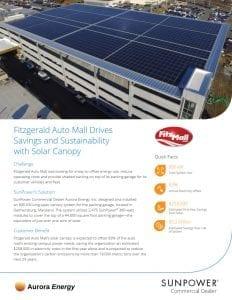 FitzGerald automall solar installation case study Aurora Energy