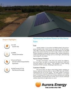 Holiday Stables solar installation case study