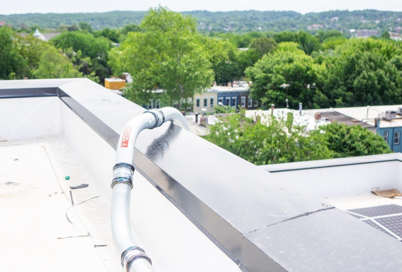 Solar array conduit covering