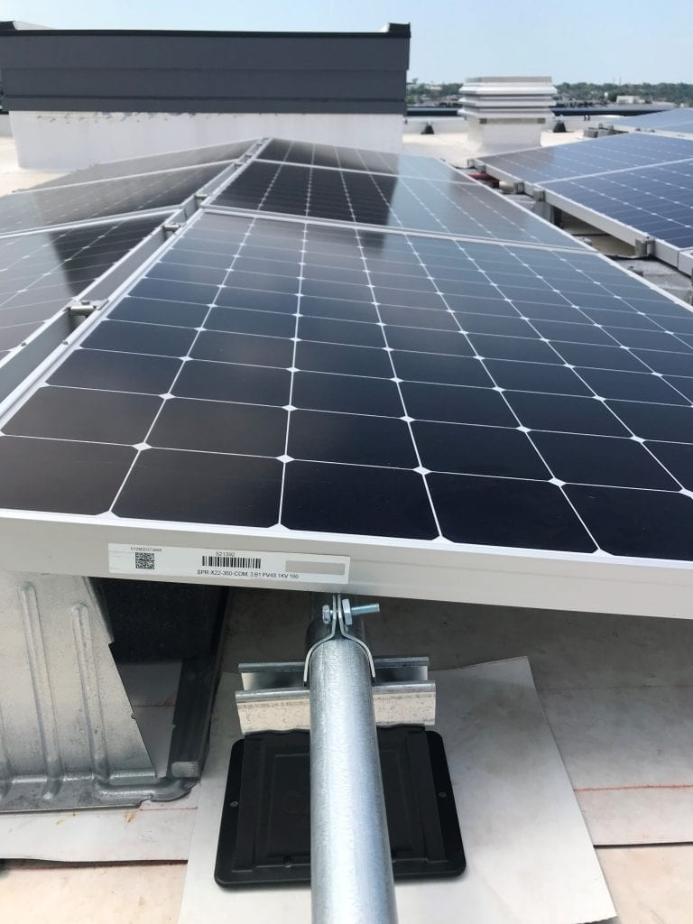 Roof mounted PV module Washington DC