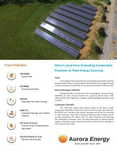 Marys Land Farm solar installation case study
