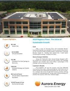 Meinhardt Properties solar installation case study Aurora Energy