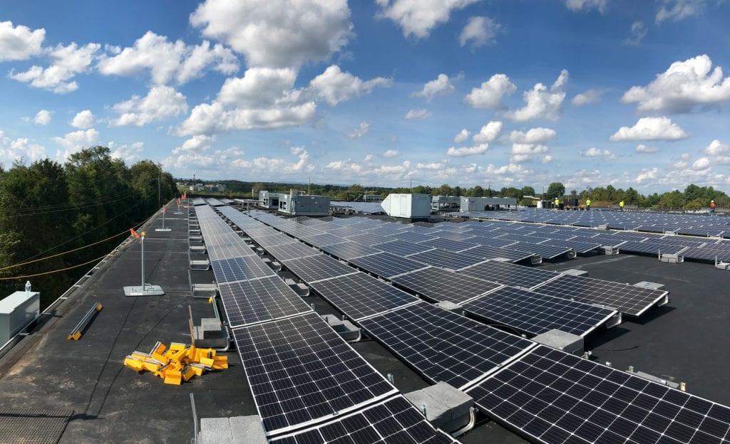 commercial solar warehouse rooftop Aurora Energy Inc.