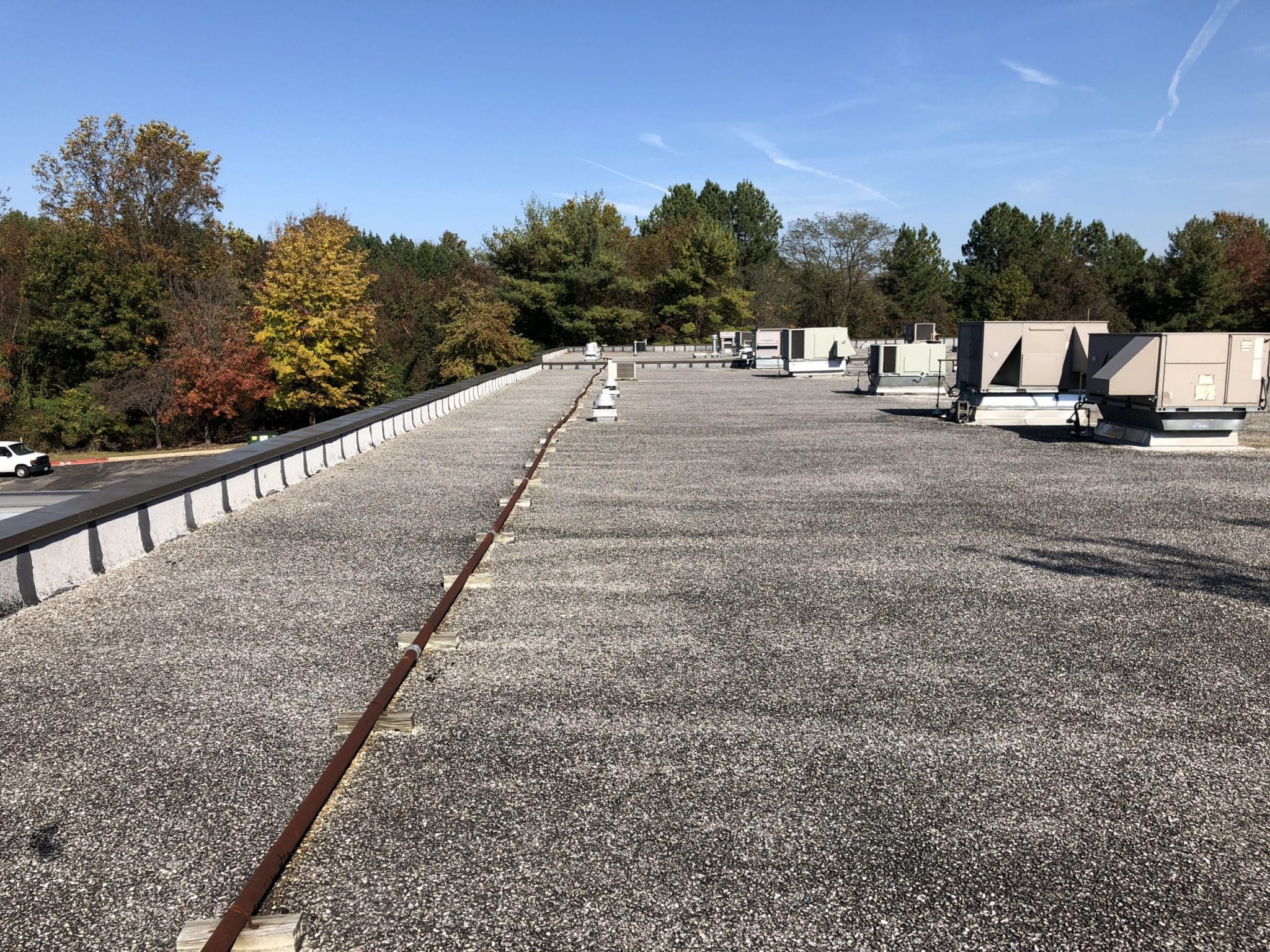 Roof photo before commercial solar installation
