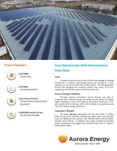 Secure Futures solar installation case study Aurora Energy