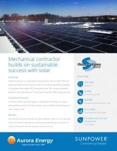 Shapiro & Duncan solar installation case study Aurora Energy