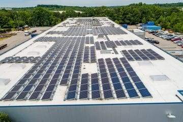 solar array on manufacturing facility Maryland