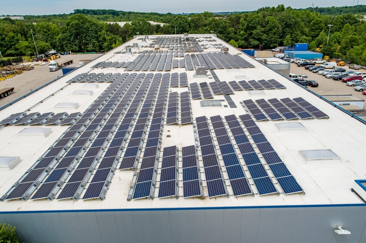 solar on manufacturing facility Maryland