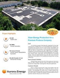 SunBelle solar installation case study Aurora Energy