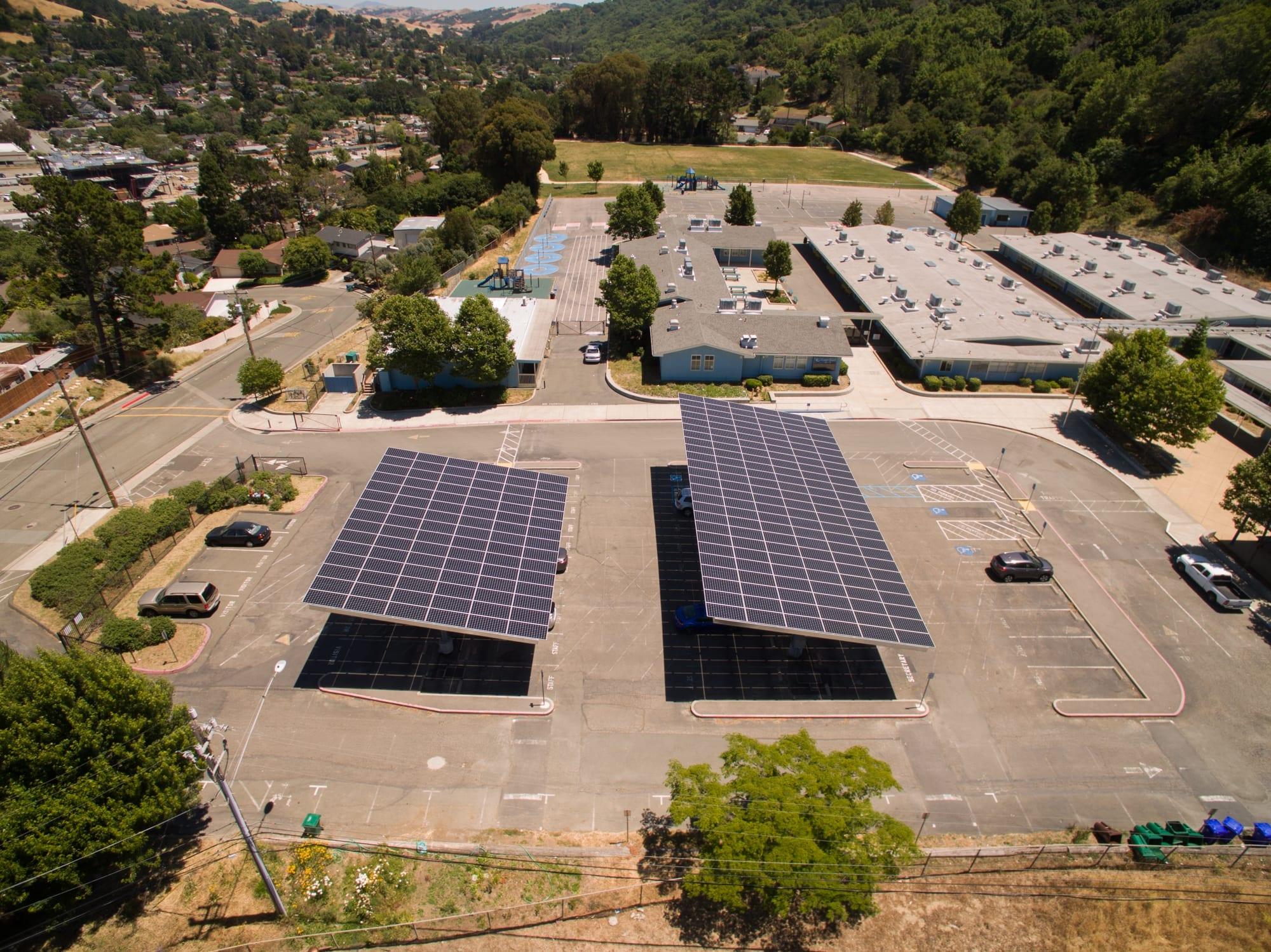 Carport solar installation