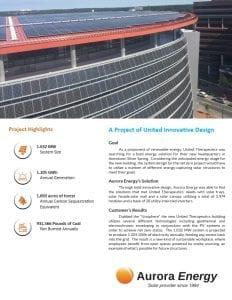 UT solar installation case study Aurora Energy