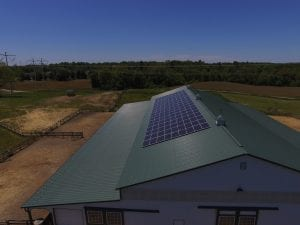 horse farm rooftop solar array