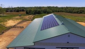 Horse farm MD solar panels decrease utility bills