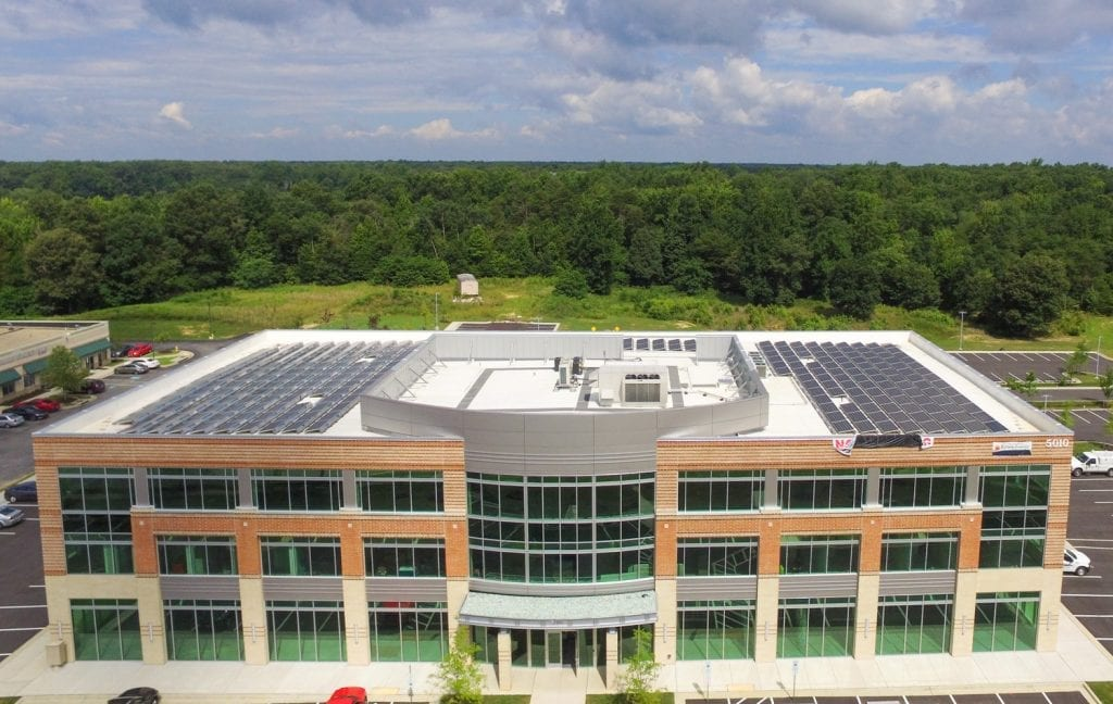 White Plains Regency Place solar array Maryland