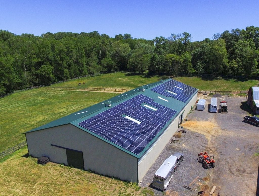 Dodon Farm solar panels barn