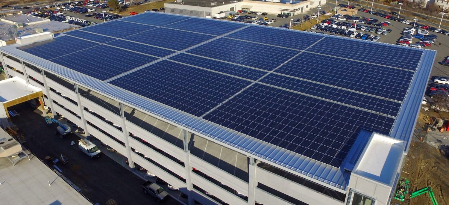 largest solar array car dealership Fitzmall Aurora Energy Inc. solar installer
