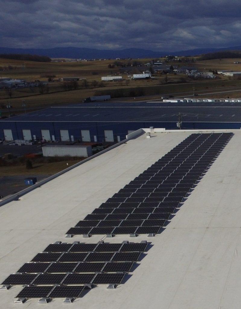 Warehouse rooftop solar strip VA