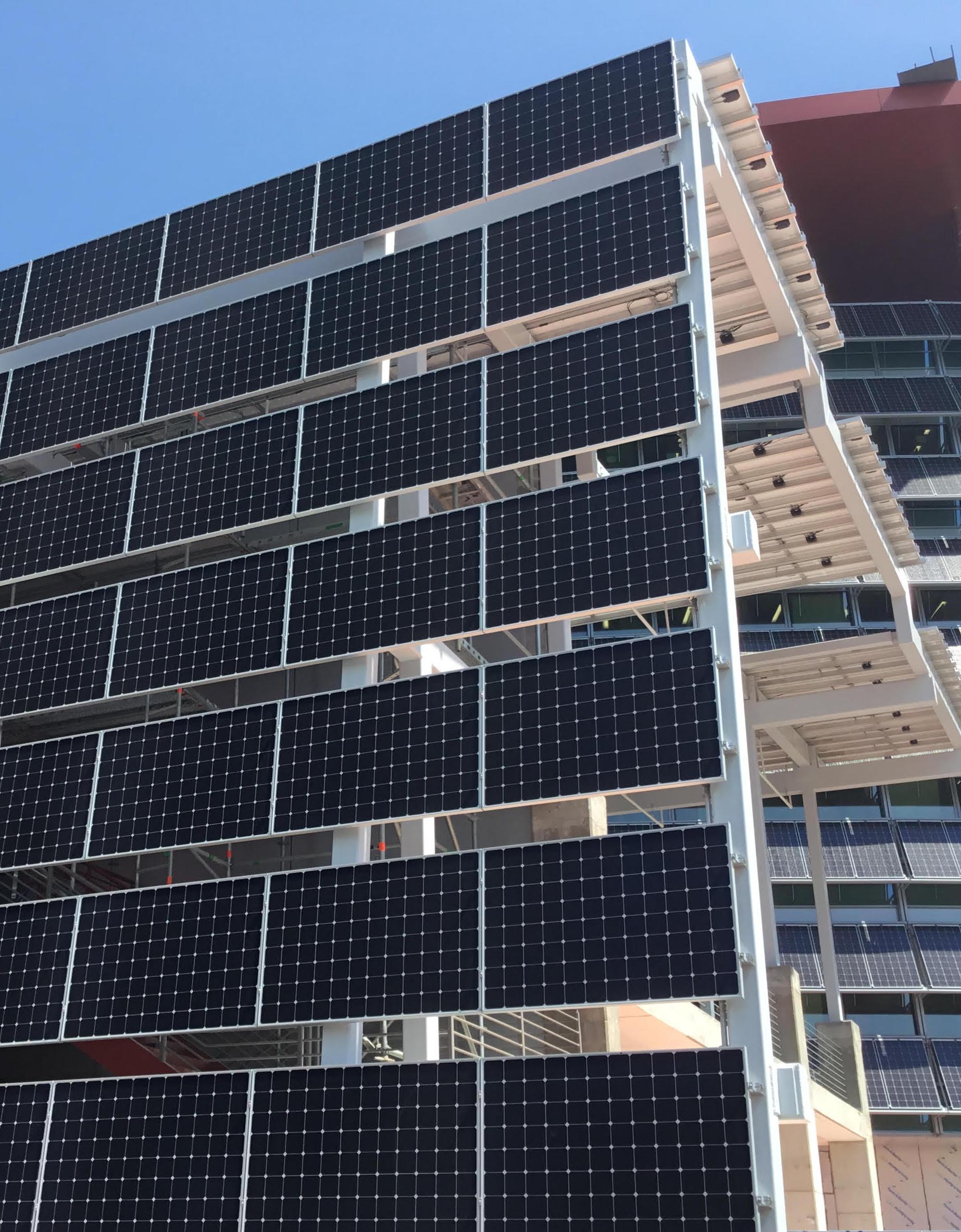 structural design solar wall solar canopy
