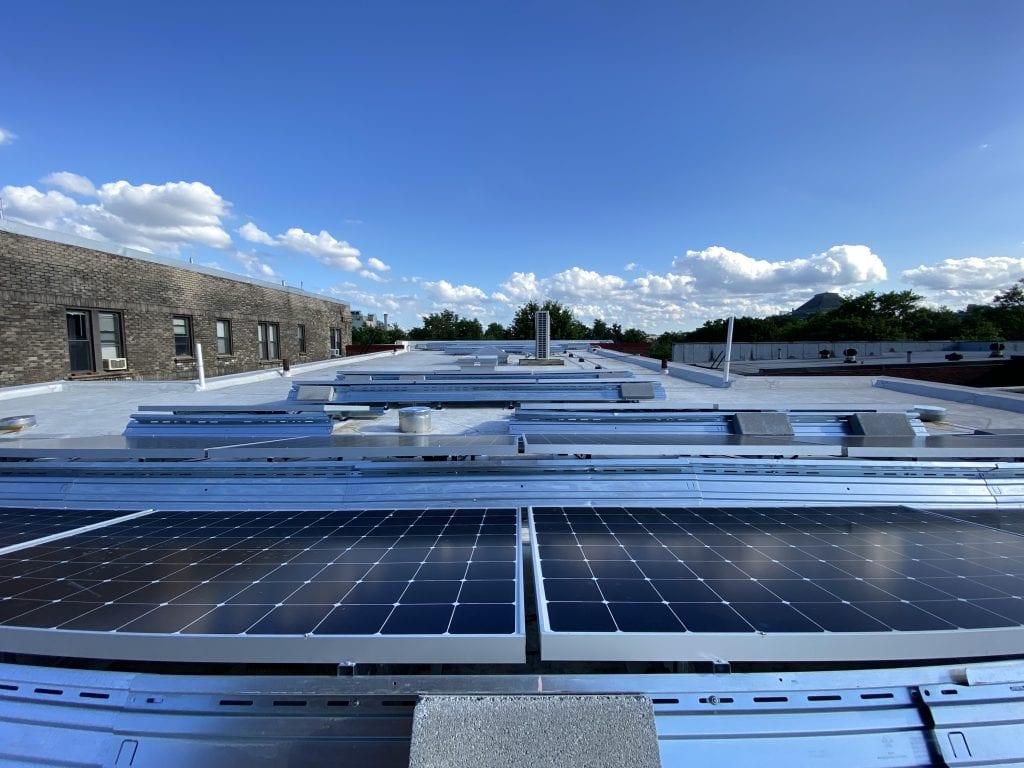 Rooftop solar Washington DC apartment building