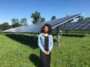 summer marketing intern Tayla - Aurora Energy Inc. commercial solar installers in DC/VA/MD